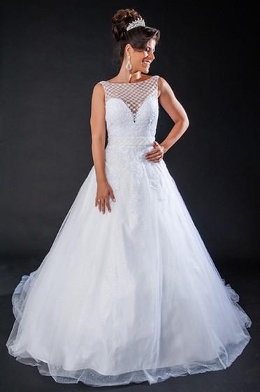 Aluguel de Vestido de Noiva de Princesa Brooklin - Vestido de Noiva Simples