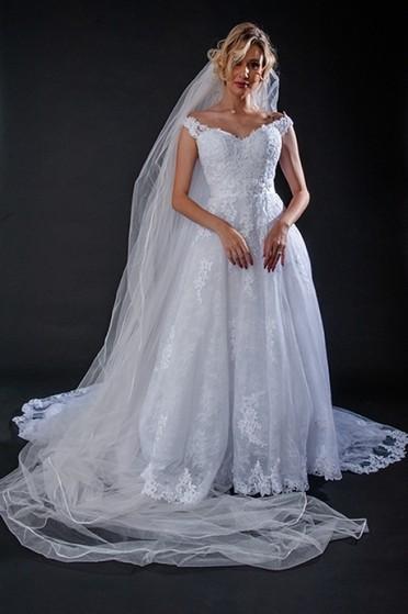 Aluguel de Vestido de Noiva de Renda Jaguaré - Vestido de Noiva de Renda