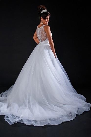 Aluguel de Vestido de Noiva Princesa Anália Franco - Vestido de Noiva Simples