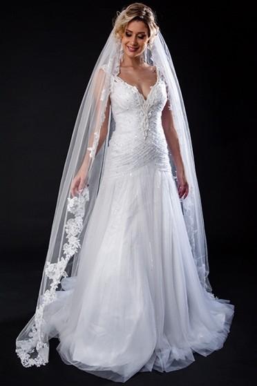 Aluguel de Vestido de Noiva Vila Dalila - Vestido de Noiva Princesa
