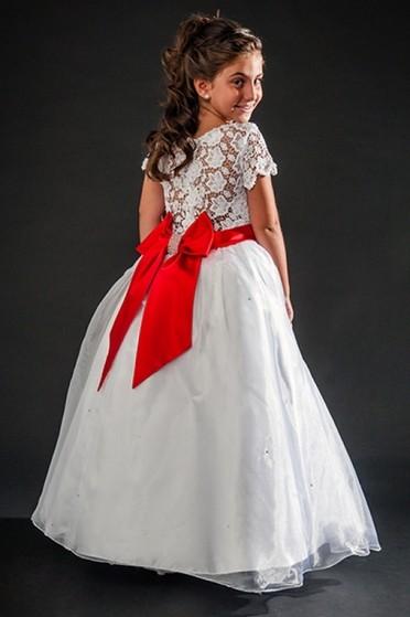 Aluguel de Vestidos de Daminha Bordado com Perola Vila Maria - Vestidos de Daminhas para Alugar