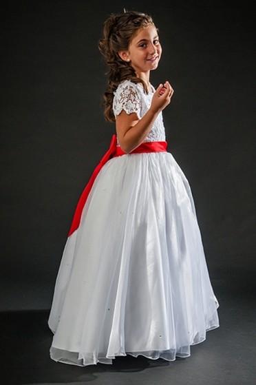 Aluguel de Vestidos de Daminhas Branco Parque Peruche - Vestidos de Daminha Infantil