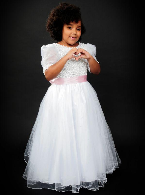 Aluguel Vestido de Dama de Honra Infantil Preço no Campo Limpo - Locação de Vestidos de Madrinha