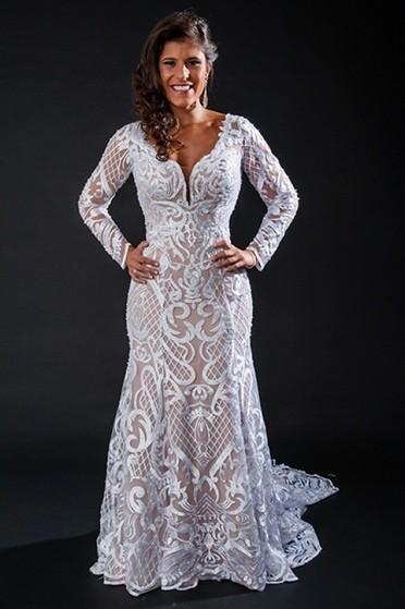 Orçamento para Vestido de Noiva com Manga Vila Dalila - Vestido de Noiva Brilhante