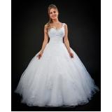 aluguel de vestido de noiva brilhante Vila Marisa Mazzei