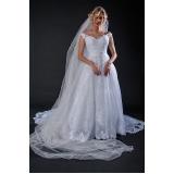 aluguel de vestido de noiva de renda Brás