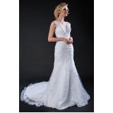 aluguel de vestido de noiva simples Brás