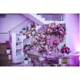 buffet de casamento com decoração