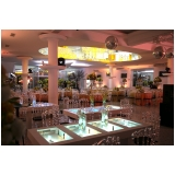 onde encontrar local com buffet para evento Santana