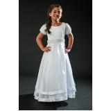 vestido de daminhas branco Aricanduva