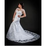 vestido de noiva brilhante preço Santana