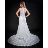 vestido de noiva brilhante Jardim Guarapiranga