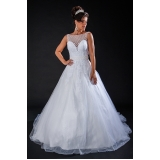 vestido de noiva clássico preço Parque do Carmo