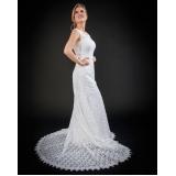 vestido de noiva clássico Parque São Jorge