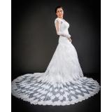 vestido de noiva com manga Vila Romana