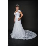 vestido de noiva com renda preço Água Funda