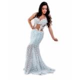 vestido de noiva para praia Rio Pequeno