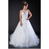 vestido de noiva princesa preço Jardim Guarapiranga