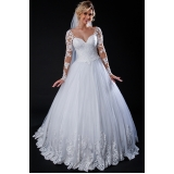 vestido de noiva simples preço Santa Isabel