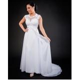 vestido de noiva simples Bom Retiro