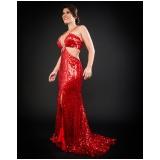 vestido para festa de casamento longo preço Glicério