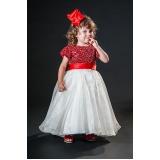 vestidos de daminha bordado com perola Brás