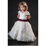 vestidos de daminha infantil preço Pacaembu
