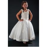 vestidos de daminha para casamento preço Belenzinho