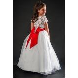 vestidos de daminha simples preço Jardim Iguatemi