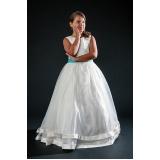 vestidos de daminhas branco preço Vila Mazzei