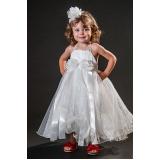 vestidos de daminhas branco