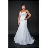 vestidos de noiva clássico Santo Amaro