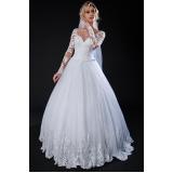 vestidos de noiva com manga Santo Amaro
