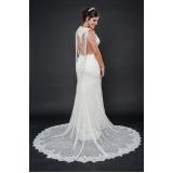vestidos de noiva com renda Água Rasa