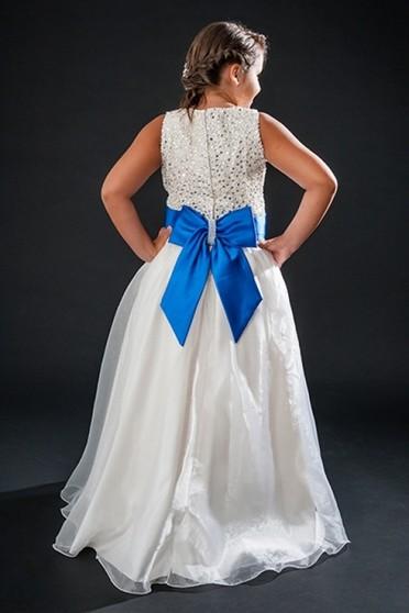Vestido de Daminha Bordado com Perola Vila Maria - Vestidos de Daminha Bordado com Perola