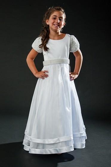 Vestido de Daminhas Branco Liberdade - Vestidos de Daminhas para Alugar
