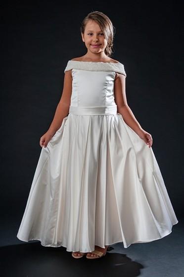 Vestido de Daminhas para Alugar São Domingos - Vestidos de Daminha Bordado com Perola