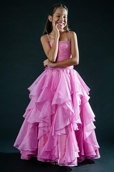 Vestido de Daminhas Vila Anastácio - Vestidos de Daminha Bordado com Perola
