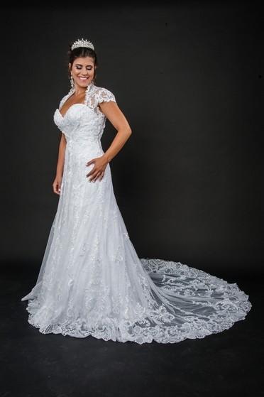 Vestido de Noiva com Renda Preço Tatuapé - Vestido de Noiva Clássico