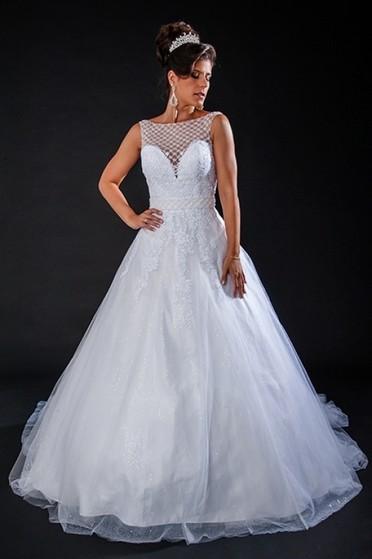 Vestido de Noiva de Princesa Preço Vila Marisa Mazzei - Vestido de Noiva Brilhante