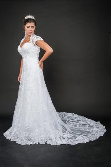 Vestido de Noiva de Renda Preço República - Vestido de Noiva