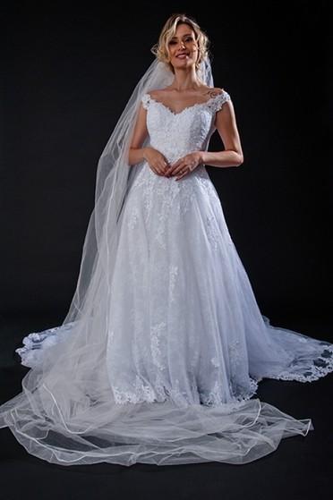 Vestido de Noiva Estilo Grego Preço Luz - Vestido de Noiva com Manga