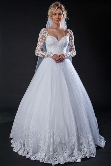 Vestido de Noiva Preço Mairiporã - Vestido de Noiva Princesa