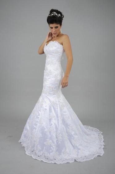 Vestido de Noiva Sereia Vila Buarque - Vestido de Noiva com Manga
