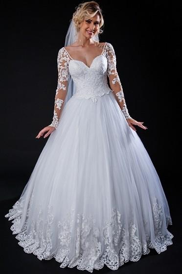 Vestido de Noiva Simples Preço São Caetano do Sul - Vestido de Noiva com Renda