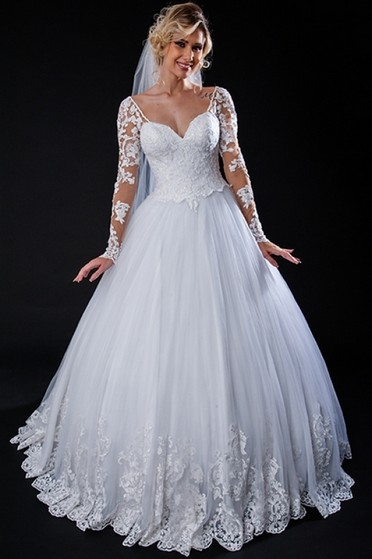 Vestido de Noiva Simples Preço Jardim América - Vestido de Noiva de Renda