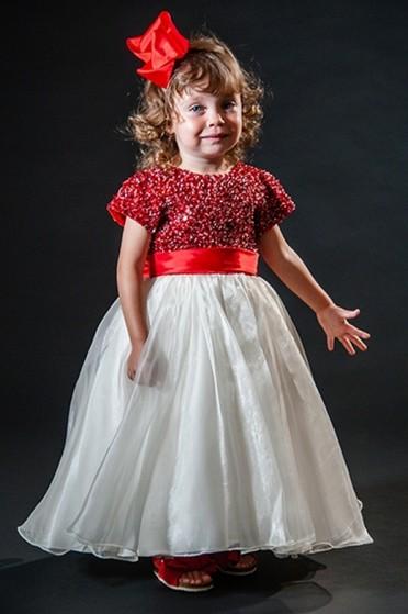 Vestidos de Daminha Infantil Ipiranga - Vestidos de Daminha Bordado com Perola