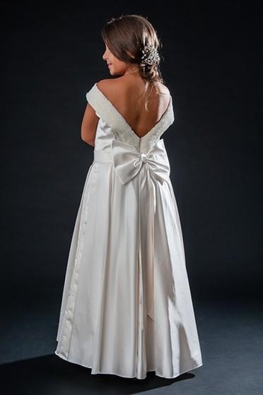 Vestidos de Daminha para Casamento Ponte Rasa - Vestidos de Daminhas Branco