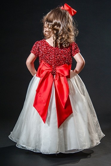 Vestidos de Daminha Simples Água Funda - Vestidos de Daminha Bordado com Perola