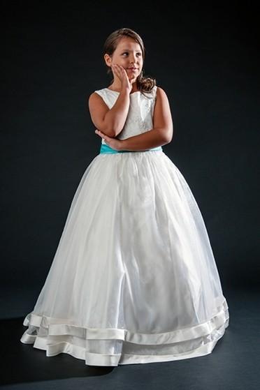 Vestidos de Daminhas Branco Preço Jardim Bonfiglioli - Vestidos de Daminha Bordado com Perola
